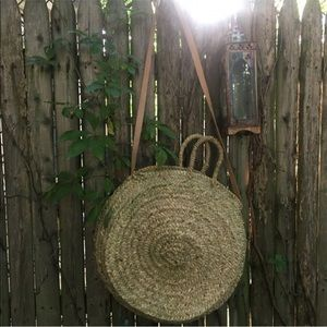 Handbags - woven straw bag
